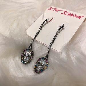 Betsey Johnson Skull Earrings NWT